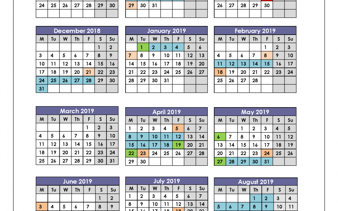 Term Dates 18/19